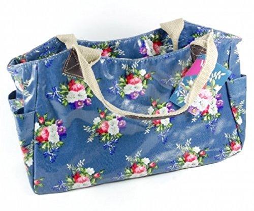 V&a Lp70855, Borsa tote donna Blu (Blue Floral)
