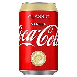 Canette de Coca-Cola Vanille, Vanilla, Coke, Boisson Rafraîchissante, Softdrink, Caféine, 30 cl