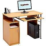 Piranha Trading Escritorio Mesa de Ordenador Despacho con Estantes, Armario para la Oficina en Casa Efecto...