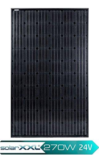 270W Watt Solarmodul Monokristallin - Full Black 24V Volt Solarpanel - BLACK FRIDAY SPECIAL