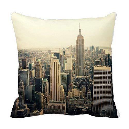 Jinhua19 copricuscini e federe 27 new york city skyline decoration pillow case cushion cover 18 inch