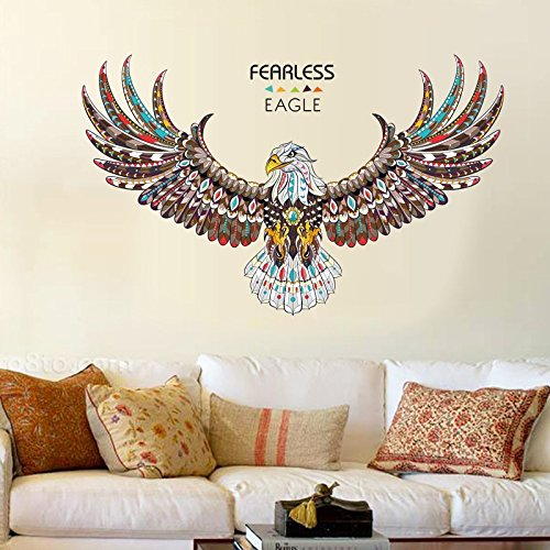 Drawihi Persönlichkeit Adler Muster Wandaufkleber Mode Schlafzimmer Wohnzimmer Studie Büro Dekoration Aufkleber