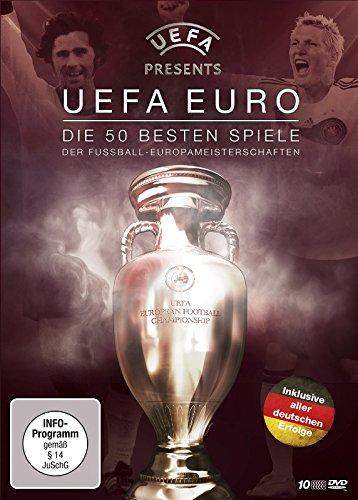 fussball dvd UEFA EURO - Die 50 besten Spiele der Fußball-Europameisterschaften (10 DVD Box)