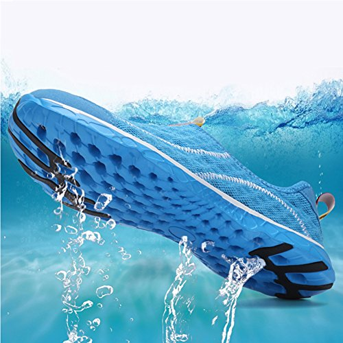 Scarpe Da Mare Acqua Saguaro® Unisex Da Donna Aqua Scarpe Da Spiaggia Traspiranti In Mesh Traspirante Antiscivolo Scarpe Da Nuoto Ad Asciugatura Rapida Tavole Da Surf Blu