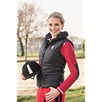 Para mujer chaleco de equitación para Boston HKM Pro team colour azul oscuro, color Azul - azul oscuro, tamaño 17 años (176 cm)