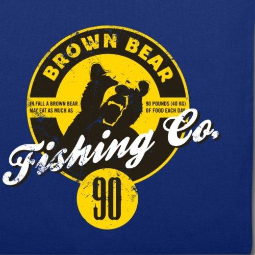 Spreadshirt Animal Planet Braunbär Porträt Fishing Stoffbeutel Royalblau