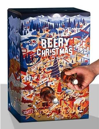 Beery Christmas - Le cadeau de Noël composé de 24 bières artisanales - Idée cadeau 100% expérience imaginé et conçu par Saveur Bière