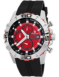 Burgmeister Armbanduhr für Herren mit Analog-Anzeige, Chronograph mit Silikon Armband - Wasserdichte Herrenarmbanduhr mit zeitlosem, schickem Design - klassische Uhr für Männer - BM535-142 Dallas