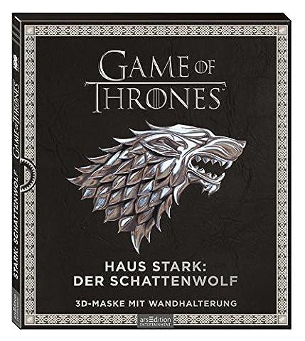 Game of Thrones - Haus Stark: Schattenwolf: 3D-Maske mit Wandhalterung