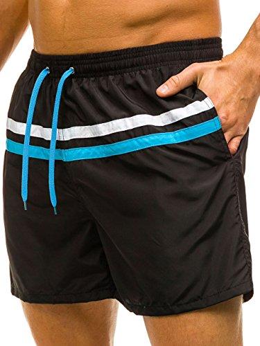 BOLF – Pantaloni sportivi – pantaloni corti – Baggy – Uomo Motivo 7G7 Nero