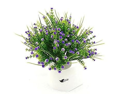 Bird FIY 4Bündel Künstliche Gladiolen Blumen Hochzeit Home Decor Geschenk violett