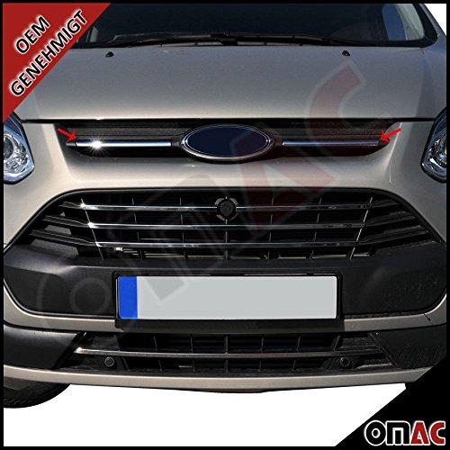 Preisvergleich Produktbild Ford Transit Tourneo Custom 2013-2017 Chrom Edelstahl Grilleisten Kühler Grill