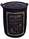 #5: HOKIPO Laundry Basket Large 80-Litre European Pattern Folding Round Laundry Hamper. (Dark Blue)