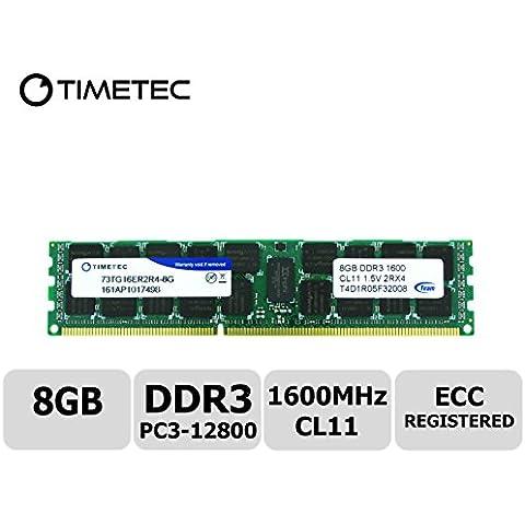 teamgroup 8GB Hynix IC 1Single Rank 1600mhz DDR3(PC3–12800) ECC REGISTRADO CL11240pin R, DIMM, 1Rx41024x 41,5V Reg en línea módulo de memoria del servidor actualización–seleccionado Asrock, Cisco, Dell, Fujitsu, Gigabyte, HP, IBM, Intel, Lenovo, NEC, Quanta, Supermicro, computadoras Tyan