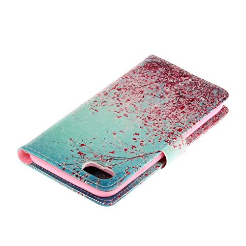 CareyNoce Apple iphone 7 Plus Coque,Flip Housse Etui Cuir PU Coque pour Apple iPhone 7 Plus (5.5 pouces) -- Léopard #1 T34