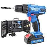 Hyundai HY2175 18V Cordless Drill with 89 Piece Drill Bit Set & Carry