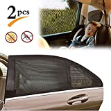 X-CHENG Car Window Shade(2 Pack) - Universal Car Side Window Sunshades Breathable Sun