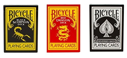 Preisvergleich Produktbild MagicMakers Ultimate Fahrrad schwarz Magic 3 Deck Collection Karten mitDer schwarze Schwarzer Skorpion undRed Dragon Deck