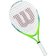 Wilson Raqueta de tenis para niños, Medida 5-6 años, Para juegos en todas las áreas, US Open 21, Verde/Blanco/Azul