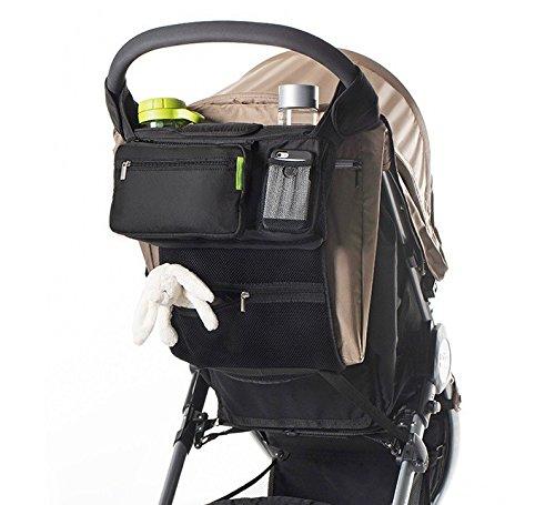 Lictin Kinderwagen-Organizer mit 2 Kinderwagen-Clips Baby-Wickeltasche Buggy Organizer Kinderwagentasche Anhängetasche für Kinderwagen oder Buggy