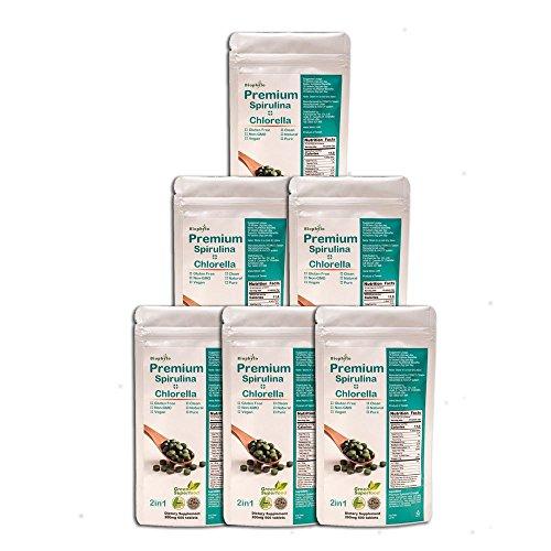 Biophyto Premium-Natur Spirulina (50{8441f8a53d3d480e5d0c97432863b3ee4b1b8cde50a23916f5322593160fc593}) Mischung Chlorella (50{8441f8a53d3d480e5d0c97432863b3ee4b1b8cde50a23916f5322593160fc593}) Tabletten mit Chlorella Growth Factor und Spirulina Growth Factor: Super Green Vitamin Supplement (200 mg x 600 Tabletten / pack X 3 Packs in Total)