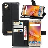 Guran® Funda de Cuero Para ZTE Blade A452 Smartphone Tirón de la Cubierta de la Función de Ranura Tarjetas y Efectivo Caso
