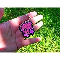 Kirby Schlüsselanhänger • Pixel / Kunst • Hama Perlen Perler Perlen • • Super Smash Bros. (Nahkampf Schlägerei) • • Traumland