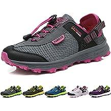 BIGU Zapatillas de Senderismo Para Hombre Mujer Outdoor Botas de Montaña Impermeables Zapatillas de Trekking Al Aire Libre Excursionismo Antideslizante Zapatos de Trekking