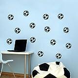 ufengke home Stickers Muraux Football en Noir et Blanc Autocollant Mural 10 Pcs...