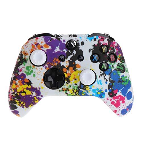 FangWWW Silikon-Gamepad-Hülle + 2 Joystick-Kappen für Xbox