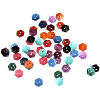 Skyllc® 50 X Pearl Button Shell naturale esagonale cucito per 15 millimetri del mestiere decorazione di DIY