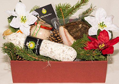 Scatola natalizia il norcino 1 - salumificio artigianale gombitelli - scatole natalizie collezione 2017