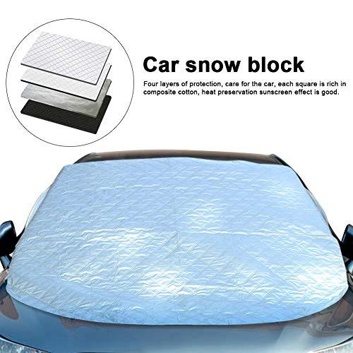 Copertura parabrezza per auto, protezione antigelo invernale per auto, protezione antigelo per finestrino anteriore, lamina in alluminio universale aspirazione ispessita magnetica parasole antifurto