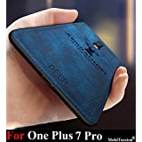 MobiTussion® - Deer Series - Shockproof Anti Slip Soft Fabric Case with with Camera Protection Protective Back Case Cover Compatible for Oneplus 7 Pro