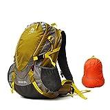 Jungleking, zaino impermeabile con grande capacità, 30l, ideale per viaggi, attività all'aperto, sport e campeggio, per uomini e donne, CY-7011, Gelb, 30L