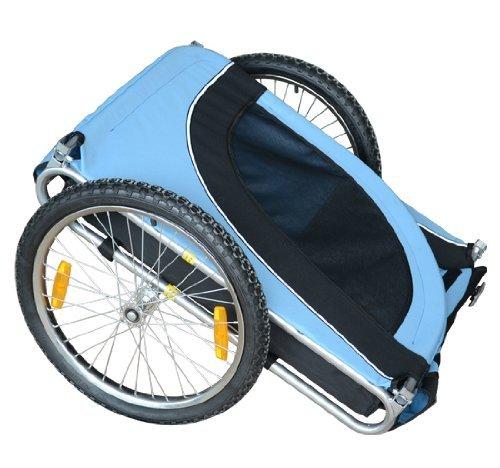 PawHut® Hundeanhänger Fahrradanhänger Hunde Fahrrad Anhänger Blau/Schwarz NEU - 4