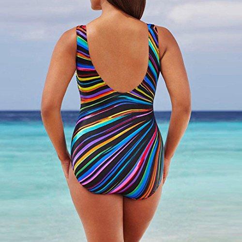 Tankinis Transer® Damen Große Größen Mehrfarbig Einteilig Schwimmanzug Push-Up Badeanzug Bademode Gr.38-44 A