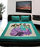 Mable Cotton Double Bedsheet With 2 Pill...