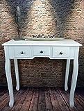 Livitat® Tischkonsole Konsolentisch Anrichte B80 x H77 x T40 cm barock Weiß LV4060