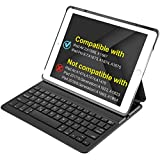 Inateck Ultra-Slim Wireless Bluetooth Multi-Angle Stand/Keyboard Case with Auto Wake / Sleep Function for iPad Air 2 (Black, BK2001)