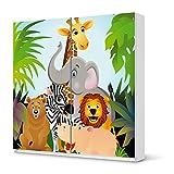 creatisto Möbel-Sticker IKEA Pax Schrank 201 cm Höhe - Schiebetür/Design Aufkleber Wild Animals/selbstklebender Schutz