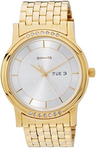 511NYBqqIxL - Sonata 7108YM01 Sitara Multi Color Mens watch
