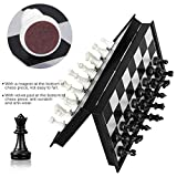 Brand Conquer Strong Folding Smooth Surface Magnetic Chess Board (10 Inch; Black)