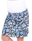 Mija - Umstandsrock für den Sommer/Sommerrock mit Blumen 1044 (M, Blau)