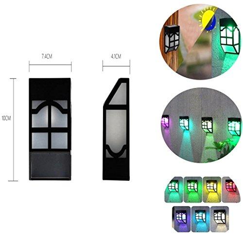 HKFV Solar Farbe wechselndes Licht Solarlichter im Freienzaun-Zaun beleuchtet Garten-wasserdichte Hauptlandschafts-Lichter