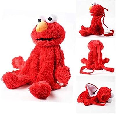 ypzz Peluche, Sesame Street, Bolso de Peluche, Elmo Guy Rojo, Mochila de Felpa para niños y niñas, 45 cm por ypzz