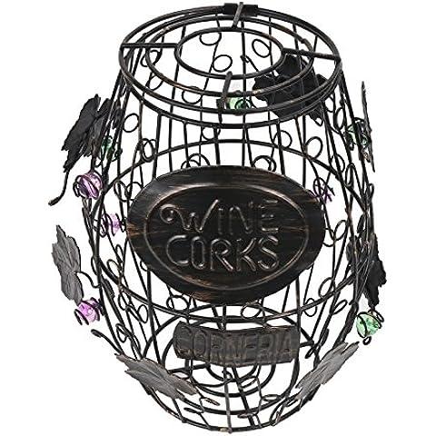 corneria barril de vino de corcho jaula, color gran Bar Decor–vino tapón de corcho de almacenamiento, metal,