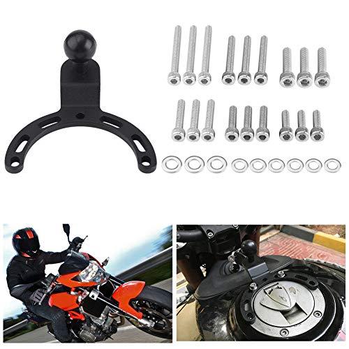 Motorrad-Tank-Halterungsset, verstellbare Gas-Tank-Kappen-Halterung, GPS-Handyhalterung mit Schrauben und Unterlegscheibe, für Kawasaki Honda BMW