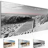 Bilder 100 x 40 cm - Strand Bild - Vlies Leinwand - Kunstdrucke -Wandbild - XXL Format - mehrere Farben und Größen im Shop - Fertig Aufgespannt !!! 100% MADE IN GERMANY !!! - 604012c