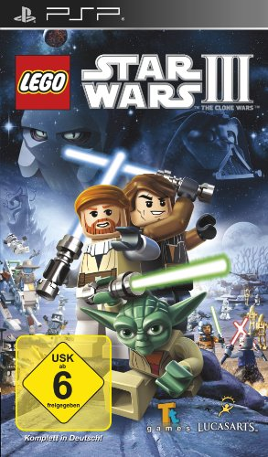 Lego Star Wars III: The Clone Wars (Star Psp Lego Wars)